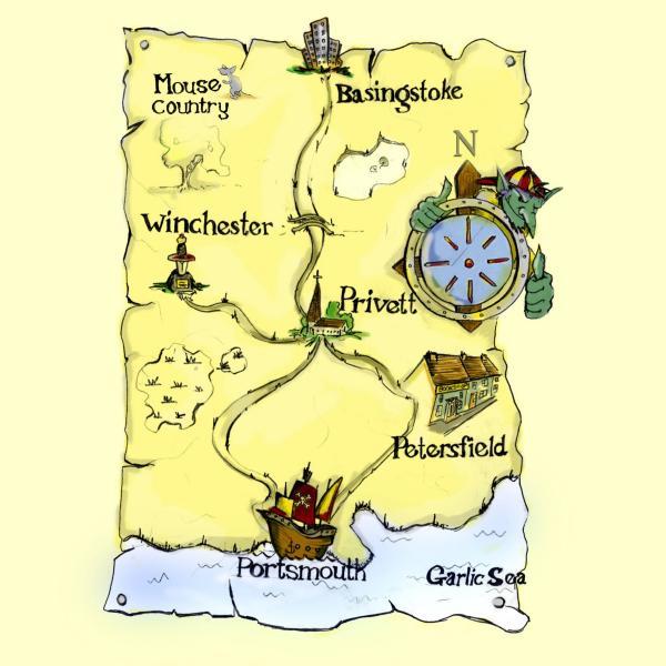 Expanded Goblin Map of Privett etc