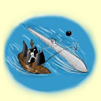 Pirates versus nuclear sub